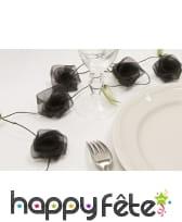 Guirlande de roses noires en organza
