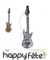Guitare de rock gonflable