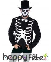 Gilet de squelette sans manches pour homme