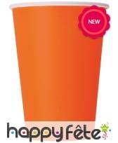 Gobelets en carton orange ou noir, cl, image 1