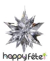 Grande étoile de Noël 3d argentée