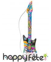 Guitare électrique hippie gonflable de 105 cm