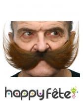 Grosse et large Moustache marron adhésive