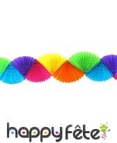 Guirlande éventail multi-couleurs de 3 m