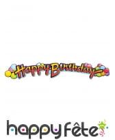 Guirlande Happy Birthday ballon de 89cm