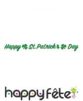 Guirlande happy St Patrick Day de 200 cm, image 1