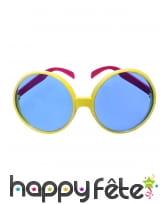 Grandes lunettes disco fun jaunes