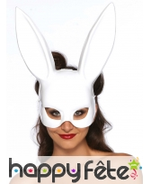 Grand masque blanc de lapin style Play Boy