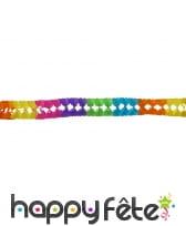 Guirlande multicolore en papier de 6m
