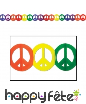 Guirlande multicolore peace and love de 370cm