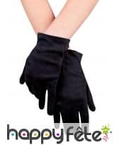 Gants noirs courts pour adulte, image 1