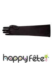 Gants noirs en polyester. 40 Cm