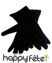 Gants noirs pour enfant en polyester