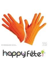 Gants oranges de qualité supérieure, polyester