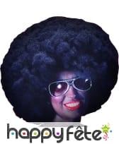 Grande perruque afro noire de 40 cm