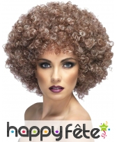 Grosse perruque afro chatain naturel