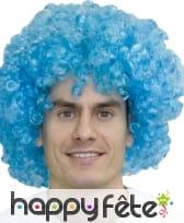 Grosse Perruque afro pop bleue
