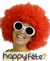 Grosse perruque afro rouge