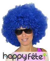 Grosse perruque bleue afro