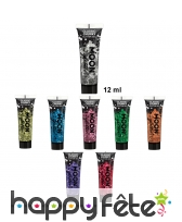 Grosses paillettes cosmétiques en gel de 12ml