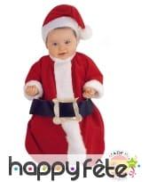 Gigoteuse Père Noël avec bonnet pour bébé