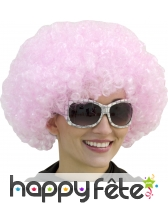 Grosse perruque pop/afro rose