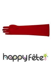 Gants polyester rouge de 40cm