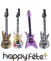 Guitare rock gonflable
