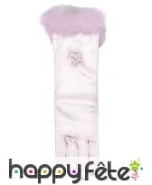 Gants rose mi-longs de princesse pour enfant