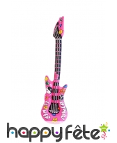 Guitare rock rose gonflable de 105cm, image 1