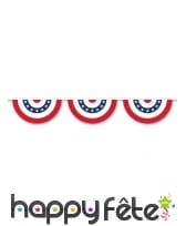Guirlande rosaces USA de 366cm