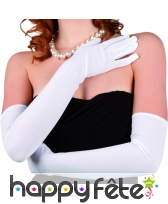 Gants stretch blanc