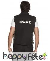 Gilet SWAT noir sans manche pour adulte, image 1