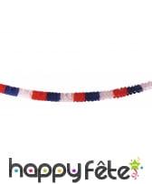 Guirlande tricolore France en papier, 6m
