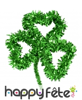 Grand trèfle vert décoratif de 33cm
