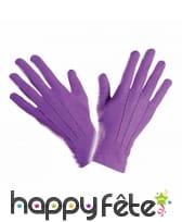 Gants violets en polyester de qualité supérieure