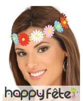 Headband avec fleurs colorées pour adulte