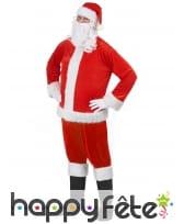 Haut, bonnet et barbe de père Noël, image 1
