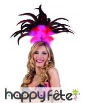 Haute coiffe rose brésilienne