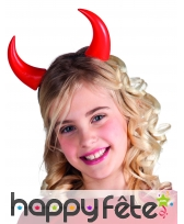 Hautes cornes rouges pour enfant