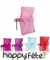 Housses de chaise avec grand noeud