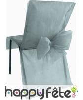 Housses de chaise non tissé noeud gris