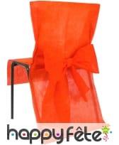 Housses de chaise non tissé noeud mandarine