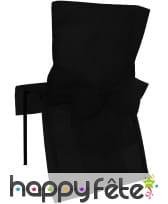 Housses de chaise non tissé noeud noir