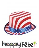 Haut de forme drapeau USA pour adulte, image 1