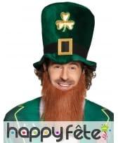 Haut de forme et barbe Irlandais de Saint Patrick
