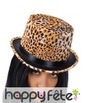 Haut de forme imprimé léopard