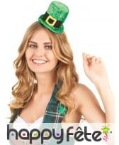 Haut de forme St Patrick sur serre tête, image 1
