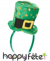 Haut de forme St Patrick sur serre tête