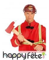 Hâche de pompier rouge en bois de 60 cm